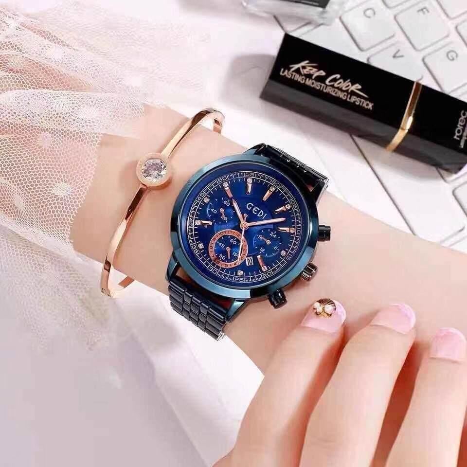 GEDI นาฬิกาข้อมือควอตซ์แฟชั่นสตรีYH- 81021