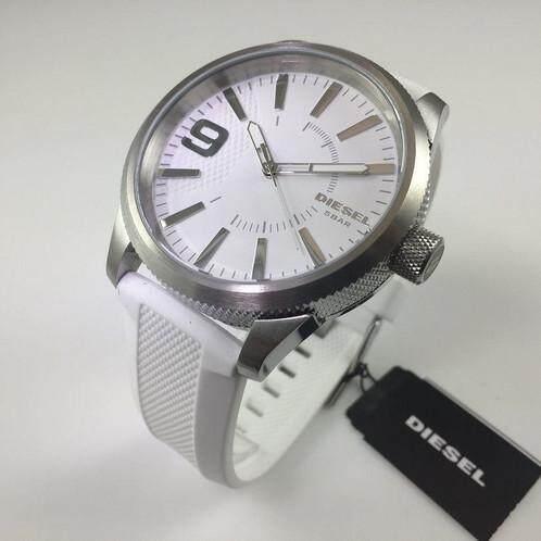 สอนใช้งาน  โคราชกรุงเทพมหานคร นาฬิกา Diesel Men s DZ1805 Rasp Stainless Steel White Silicone Watch ของแท้จาก USA