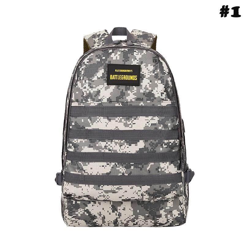 กระเป๋าถือ นักเรียน ผู้หญิง วัยรุ่น ปัตตานี กระเป๋าเป้สะพายหลัง กระเป๋าเป้ ลายพราง ไซต์ใหญ่ พิเศษ กันน้ำได้  กระเป๋าลายทหาร PUBG BAG Level3