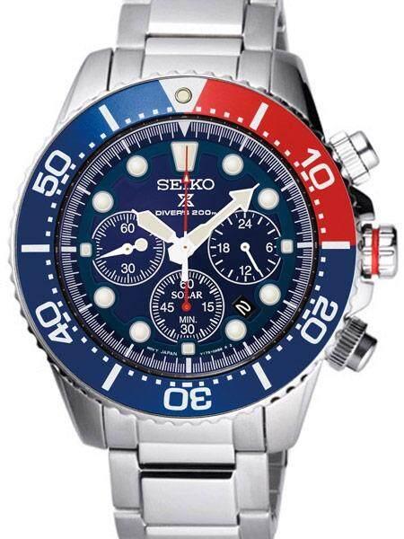 ยี่ห้อไหนดี  ยโสธร Seiko ไซโก้ นาฬิกาดำน้ำ รุ่น SSC019P SSc019 Solar Chronograph ใช้พลังงานแสง