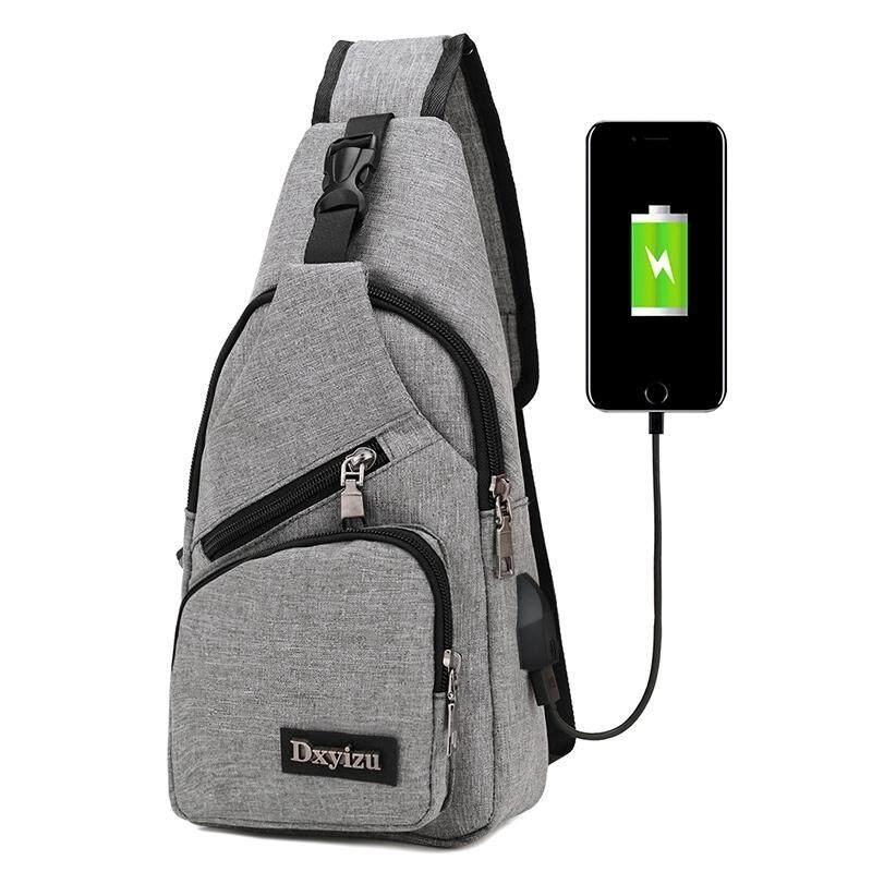 กระเป๋าสะพายพาดลำตัว นักเรียน ผู้หญิง วัยรุ่น สระแก้ว BAIFA SHOP PDB85 USB กระเป๋าสะพายสำหรับผู้ชาย Canvas