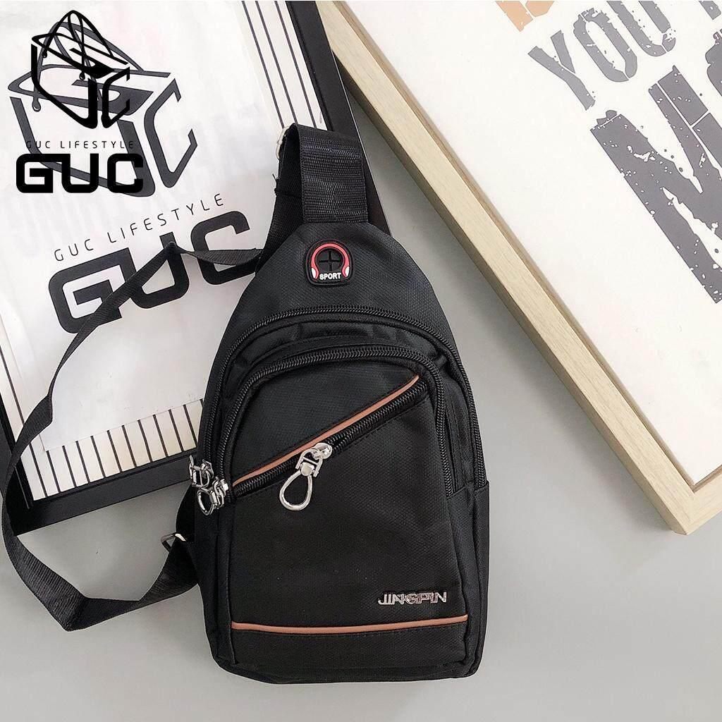 กระเป๋าถือ นักเรียน ผู้หญิง วัยรุ่น ราชบุรี GUC SELECTEDกระเป๋าคาดอกผ้าซิปหยดน้ำงานดี B921