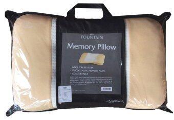 Fountain หมอนเพื่อสุขภาพ หมอนหนุน เฟาน์เท่น เมมโมรี่โฟม สีน้ำตาล Fountain Memory Foam Pillow (Brown)