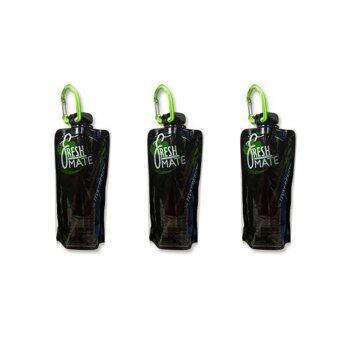 Fresh MATE ขวดน้ำพับได้ Active Fresh 650 ml. แพ็ค 3 ชิ้น (สีดำ)