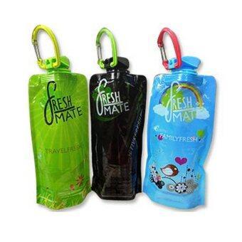 fresh MATE ขวดน้ำพับได้ Active Fresh (สีดำ)+Family Fresh (สีฟ้า)+Travel Fresh (สีเขียว) 650 ml.