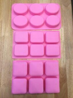 Freshyware แม่พิมพ์ซิลิโคน พิมพ์วุ้น เยลลี่ ทำน้ำแข็ง ทำสบู่ ทำ chocolate food grade ชุดคลาสสิค ทรงรี ทรงผืนผ้า ทรงจตุรัส หลุมใหญ่ คุณภาพส่งออก (คละสี)