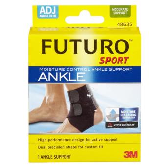 Futuro Sport Moisture Control Ankle Support ฟูทูโร่ อุปกรณ์พยุงข้อเท้าปรับกระชับได้และระบายความร้อน [48635]