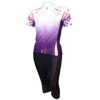 Gateway ชุดปั่นจักรยานผู้หญิง กางเกงขา 5 ส่วน ST สีม่วง