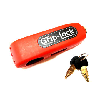 griplock ตัวล็อคเบรค กับ คันเร่ง มอเตอร์ไซค์ สีแดง