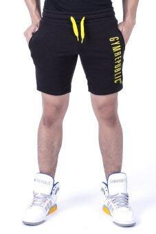 Gym Republic กางเกงขาสั้นทรงสลิม รุ่น GR0001 (สีดำ)