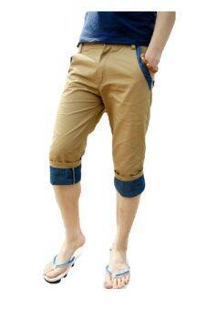 HappyU กางเกงสี่ส่วน HHD77 - Brown
