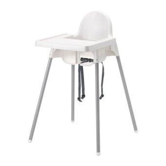 Hisomart เก้าอี้ทานข้าวเด็กทรงสูงพร้อมถาด (สีขาว)