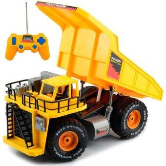 Hitech Dump Truck รถดั้มบังคับวิทยุ Scale 1:10 (เหลือง)