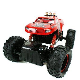 Hitech รถไต่หินบังคับวิทยุ Rock Crawler King 4WD 1:12 (สีแดง)