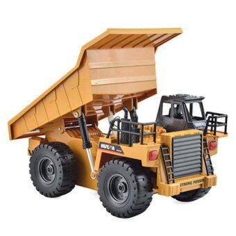Hitech รถดั้มบังคับวิทยุ Huina 6 CH Dump Truck (สีเหลือง)