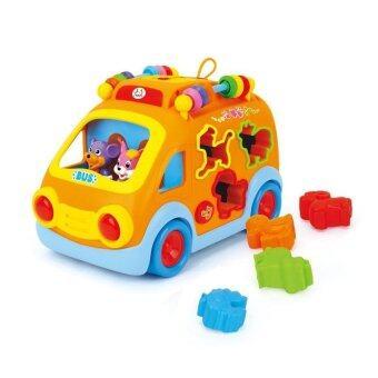 Huile Toys Happy Bus and Block รถบัสหยอดบลอคแสนสนุก