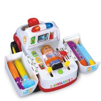 Huile ToysรถพยาบาลAmbulance Car - White