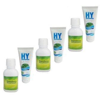 Hylife Bamboo mouthwash 300 ml. + HY DENT Set ดูแลสุขภาพปาก 80 g. (3 คู่)