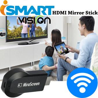 I-Smart ตัวแปลงสัญญาณภาพ มือถือ/แท็บแล็ต ขึ้นจอ ทีวี ผ่าน WIFI MiraScreen HDMI Dongle For TV