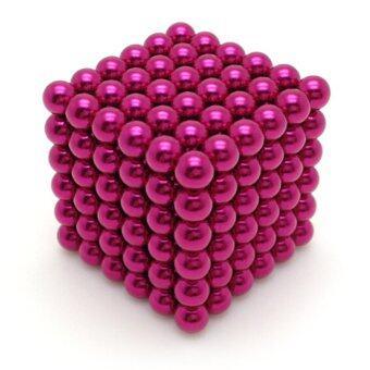 i win innovation ลูกบอลแม่เหล็กแรงสูง Neodymium ขนาด 5mm. 216 ลูก (สีชมพู)
