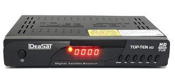 IDEASAT กล่องรับสัญญาณดาวเทียม HD รุ่น TOP-TEN H3 Bisskey (สีดำ)