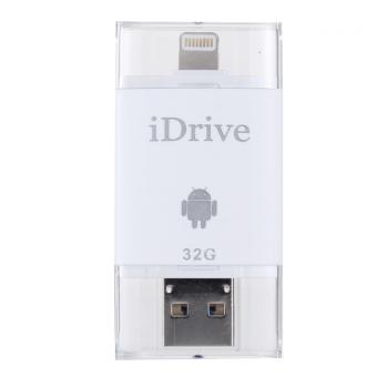 iDrive - iDiskk Pro 32GB รุ่น LX-806 USB 3.0 แฟลชไดร์ฟสำรองข้อมูลสำหรับ iPhoneIPadAndroid