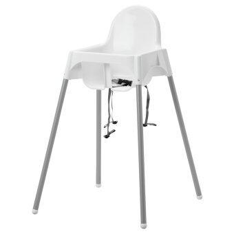 IKEA เก้าอี้ทรงสูง (ไม่มีถาด) Highchair เก้าอี้ทานข้าวเด็กทรงสูง 0.6 - 4 ปีขนาด 58*62*90 ซม. พร้อมเข็มขัดนิรภัย