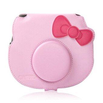 Mulba PU Leather Camera Case Bag For Fujifilm Cheki Instax Mini C577 ( Pink )