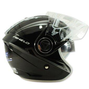 INDEX หมวกกันน๊อค TITAN-5 (หน้ากาก 2 ชั้น) สีดำเงา