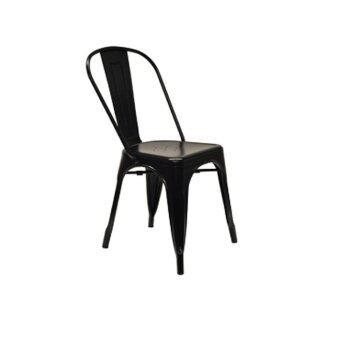 Inter Steel เก้าอี้กินข้าว รุ่น เก้าอี้เหล็ก1-One( สีดำ )