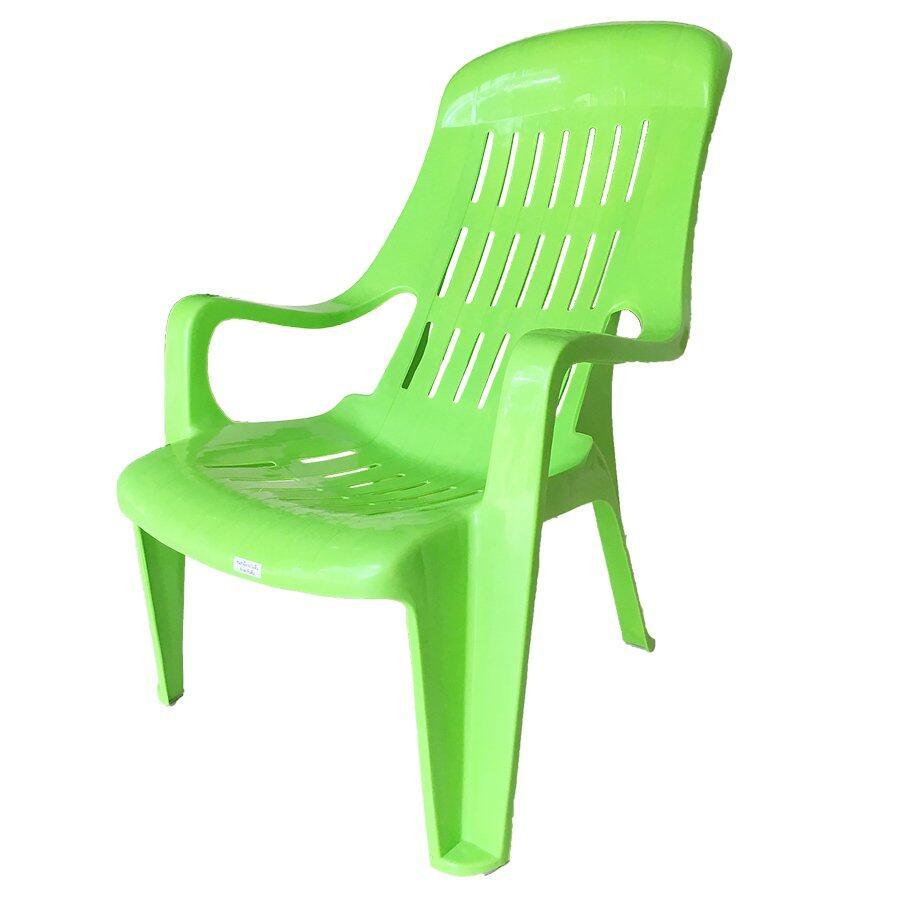 Inter Steel เก้าอี้พักผ่อน รุ่น เอนสบาย พลาสติกPP(A)- สีเขียว Relaxing chair  plastic comfortable.