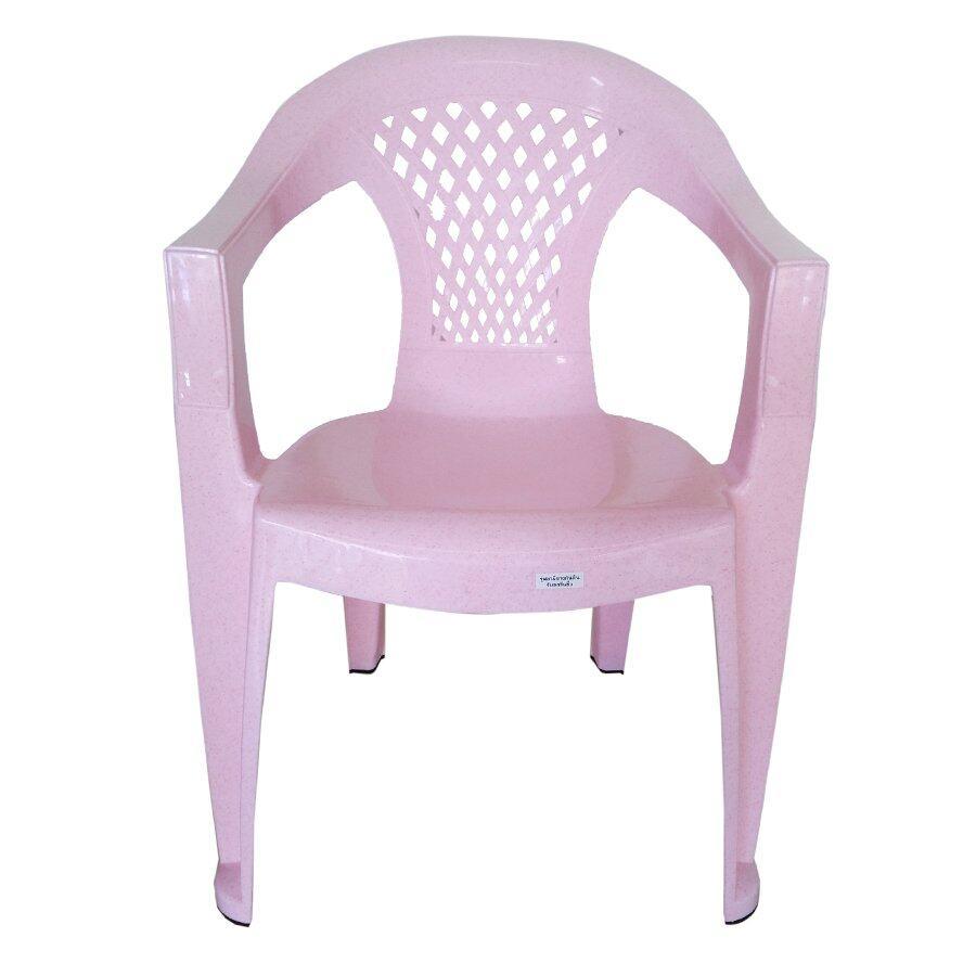 เช่าเก้าอี้ กรุงเทพ Inter Steel เก้าอี้พลาสติก รุ่น Arms plastic chair(A) - ผิวลายหินอ่อนชมพู