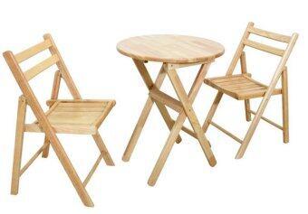 Intrend Design ชุดโต๊ะกาแฟ 2 ที่นั่ง รุ่น Dinner Set1-PWO60 (สีธรรมชาติ)