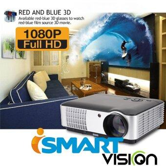 ISMART VRD806 หลอด 3D HD Projector WXGA All in Oneฟรีสายสัญญาณ VGA - สีดำ