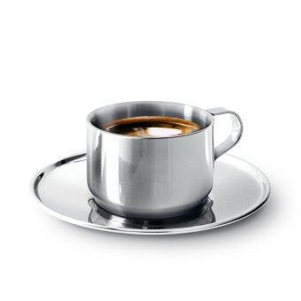 Jaguar ถ้วย ถ้วยกาแฟพร้อมจานรอง 1 ชุด (Silver)