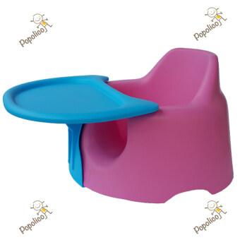 Jellymom เก้าอี้หัดนั่งเจลลี่มัม รุ่นจัมโบ้ สีชมพู /ถาดฟ้า