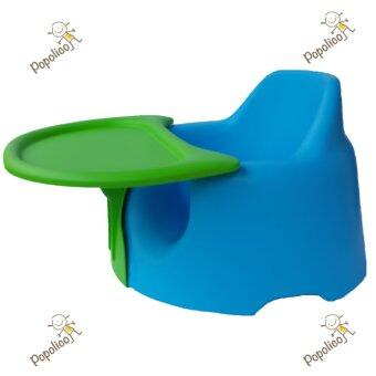 Jellymom เก้าอี้หัดนั่งเจลลี่มัม รุ่นจัมโบ้ - สีฟ้า + ถาดเขียว