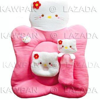 K.baby ชุดที่นอนผ้าขนหนู รูปคิตตี้ - สีชมพู