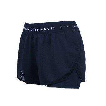 กางเกงวิ่ง กางเกงโยคะ มีซับใน ระบายอากาศได้ดี (สีดำ)