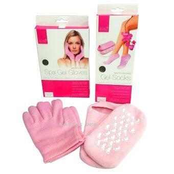 Kaidee Spa Gel ถุงมือ + ถุงเท้า พร้อมมอยเจอร์บำรุง ผิวแห้ง แตกกร้าน เนียนนุ่ม แค่ใส่ดูทีวีSpa Gel Moisture SockGlove (ใช้ได้นาน)