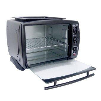 KASHIWA เตาอบ 18 ลิตร 1500 วัตต์ พร้อมถาดอุ่นอาหาร (สีดำ)