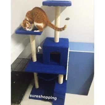 คอนโดแมว catcondo ของเล่นแมว บ้านแมว ที่นอนแมว ของใช้แมว รุ่นBest Seller (สีน้ำเงินกรม)