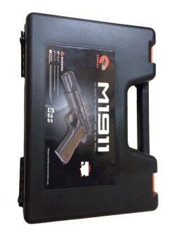 กล่องใส่ปืนสั้นกล่องเก็บปืนgun bagสีดำ