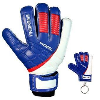 KOOL ถุงมือ โกล์ว ฟุตบอล อังกฤษ Football Goalkeeper Gloves Replique ENG Fingersave พร้อมพวงกุญแจ