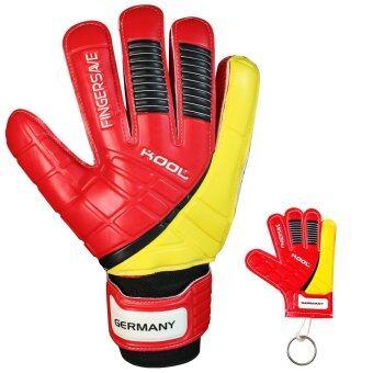 KOOL ถุงมือ โกล์ว ฟุตบอล Football Goalkeeper Gloves Replique Germany Fingersave พร้อมพวงกุญแจ