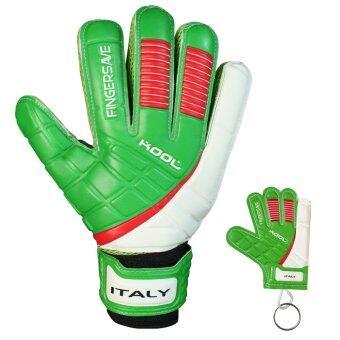 KOOL ถุงมือ โกล์ว ฟุตบอล อิตาลี Football Goalkeeper Gloves Replique Italy Fingersave พร้อมพวงกุญแจ