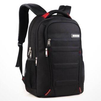 กระเป๋าเป้สะพายหลัง เนื้อผ้าหนา กันน้ำ ใส่อุปกรณ์ ของใช้ ได้มาก (สีดำ)
