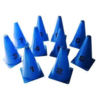กรวย หลัก ติด ตัวเลข 0-9 (สีน้ำเงิน) / Cone with number