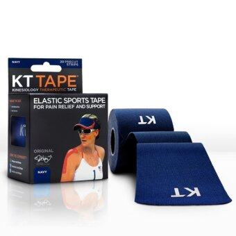 KT Kinesiology Therapeutic Tape เทปพยุงกล้ามเนื้อ เทปบำบัด Cotton (Navy)