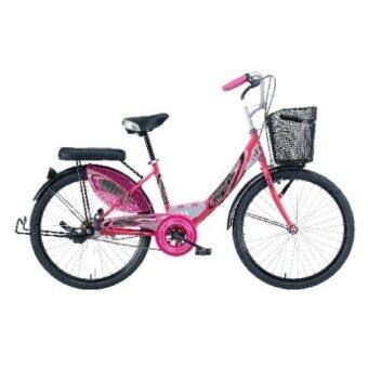 LA Bicycle จักรยานแม่บ้าน รุ่น City Steel Rim 24\ สีชมพู